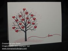 by Lynn: Sheltering Tree and Hello Life. All supplies from Stampin' Up!