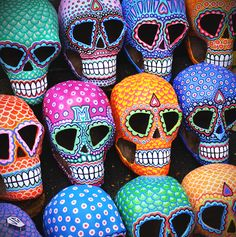 sugar skulls - hand painted by Josh Galletly