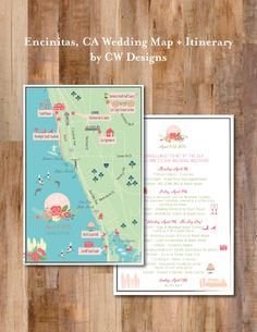 A personal favorite from my Etsy shop https://www.etsy.com/listing/228382770/custom-fun-wedding-map-with-itinerary
