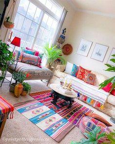 indian home decor New Stylish Bohemian Home Decor and Design Ideas Hippie Home Decor, Indian Home Decor, Bohemian Decor, Bohemian Style, Boho Chic, Handmade Home Decor, Diy Home Decor, Design Marocain, Living Room Decor