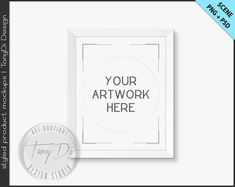 8x10 White & Black Frame on White Wall by TanyDiDesignStudio