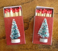 Christmas Matchboxes, niec to include with candles (or incense).