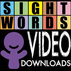 Sight Word Videos----I play one of these each day when the children are hanging up their coats and backpacks. My entry transitions are much faster now as they want to quickly get to their seats to view the video---plus they are learning their sight words. The videos are only about 2 minutes each.