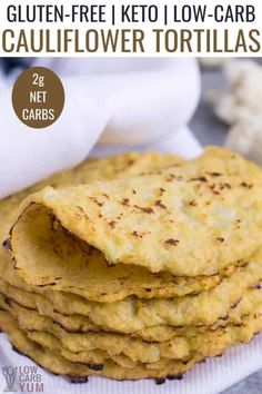 Easy to make low carb tortillas made from riced cauliflower are gluten-free and paleo friendly. And they make great wraps for keto sandwiches. Low Carb Chicken Recipes, Healthy Low Carb Recipes, Low Carb Dinner Recipes, Low Carb Desserts, Diet Recipes, Dessert Recipes, Cauliflower Tortillas, Riced Cauliflower, Minecraft Skins