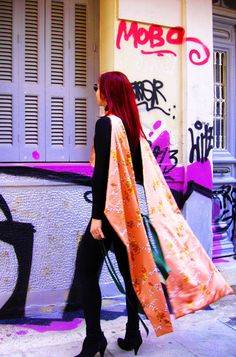 Agathi E.E.- KIKA Convertible, Kimono Top, Sari, Tops, Dresses, Women, Fashion, Saree, Vestidos