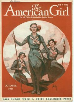 The American Girl -  Published by the Girl Scouts  - Scouting -  October, 1935