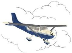 Dakota Collectibles Embroidery Design: Airplane 7.34 inches H x 10.04 inches W