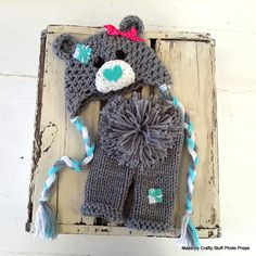 Hat idea for this winter! Looks like a care bear and probably simple to create my own pattern... hat only not the pants
