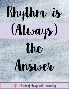 Rhythm is (Always) the Answer - What is this rhythm concept and how can it help us in our homeschooling and our parenting? Click to discover how.