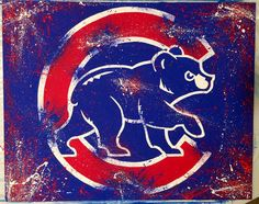Chicago Cubs Logo by JessicaSpanglerArt on Etsy Chicago Cubs Fans, Chicago Cubs World Series, Chicago Art, Cubs Baseball, Baseball Odds, Cubs Wallpaper, Chicago Tattoo, Cubs Win, Go Cubs Go