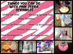 Uses for Pink Zebra Sprinkles