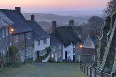 Gold Hill Shaftesbury at Dawn Dorset