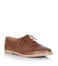 New Look   Tan Leather-Look Brogues