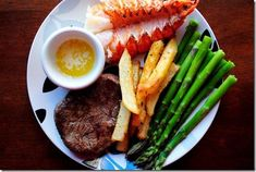 Surf, Turf and Vanilla Cupcakes - Iowa Girl Eats Dinner For 2, Vanilla Cupcakes, Healthy Recipes, Healthy Foods, Seafood, Surfing, Healthy Eating, Beef, Vegetables