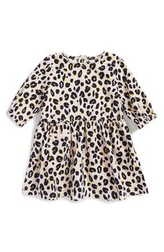 Stella McCartney Kids 'Skippy' Leopard Print Corduroy Dress (Baby Girls) available at #Nordstrom