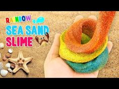 Thanks for loving Monster Kids channel~ I will try my best to make my channel as creative as possible! It's a channel for kids, MonsterKids. Sand Slime, Borax Slime, Diy Slime, Love Monster, Kinetic Sand, How To Make Slime, Sensory Activities, Rainbow, Sea