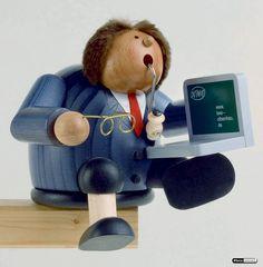 Smoker - Computerexpert - Edge Stool by KWO Computer, Incense, Great Gifts, Stool, Smokers, Geek Stuff, Nutcrackers, Geeks, German