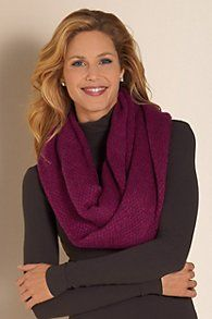 Effortless Eternity Scarf - Soft Tweed Scarf, Soft Surroundings: Special Offer - Shop Discounted Accessories at Softsurroundings. Celebrity Dresses, Celebrity Style, Soft Surroundings, Comfortable Fashion, Scarf Wrap, Plus Size Outfits, Tweed, Clothes For Women, My Style