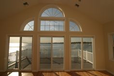 View of the Long Island sound from a master bedroom suite.