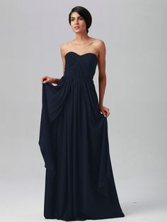 Pin to Win a Wedding Gown or 5 Bridesmaid Dresses! Simply pin your favorite dresses on www.forherandforhim.com to join the contest! | Multi-wear Chiffon Dress $179.99