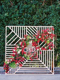 Outdoor Wedding Ceremonies Modern Hollywood Wedding With Metallic Accents - Copper, gold, stripes and succulents all make an appearance in this playful modern wedding day set in Hollywood, California. Wedding Ceremony Ideas, Wedding Themes, Wedding Signs, Wedding Wall, Wedding Arches, Wedding Backdrops, Wedding Reception, Modern Wedding Decorations, Modern Wedding Ideas
