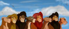 Tama and Malka, Nala and Simba, Kula and Chumvi, and Mheetu with Korra.