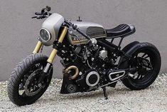 The 'Rogue Shadow' Yamaha XV750 from Cardsharper Customs