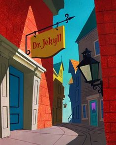Animation Backgrounds: HYDE AND HARE (Warner Bros., 1955)