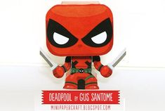 Deadpool Mini Paper Toy - by Gus Santome -- Deadpool is the new mini paper toy by designer Gus Santome, from Mini Papercraft website.