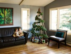 christmas tree substitutes | Greener Holiday Season Jubiltree Wooden Christmas Tree Alternative ...