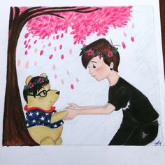 My drawing : dan and phil, Winnie the Pooh, dan howell, phil lester, phan,<<<< AWWW!!!!!
