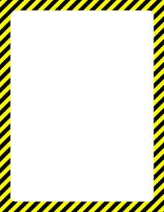 hazard border