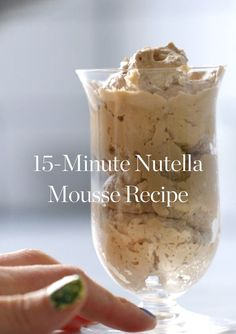 Whip Up This Delicious Nutella Mousse in Just 15 Minutes via @PureWow