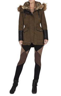 ARMY GREEN Green Coats - Savanna Fur Hood Anorak