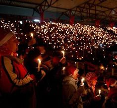 A Christmas tradition at a Berlin football club - carols at the FC Union Berlin