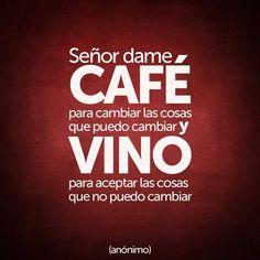 Señor dame café