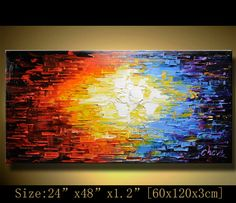 Original Abstract Painting, Modern Textured Painting, Palette Knife, Painting Oil on Canvas,Home Decor, by Chen n074 on Etsy, $199.00