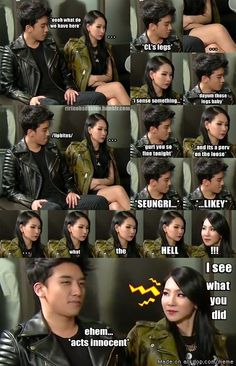 Seungri:Pervert maknae * I don't really ship anybody in KPOP, but this meme is funny*