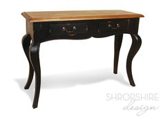 French Country Painted Queen Anne Console Table