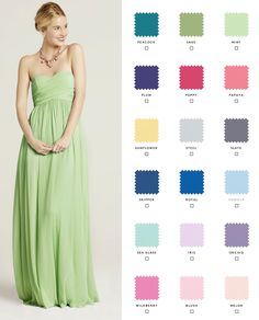 Newly engaged? Check out our 10 gorgeous styles in 18 colors so your bridesmaids can mix and match!