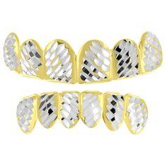 Yellow Finish Grillz Diamond Cut Halloween Style
