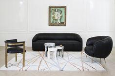 KELLY WEARSTLER | ASTRAL RUG. Sleek and artful spirited airbrushed pattern