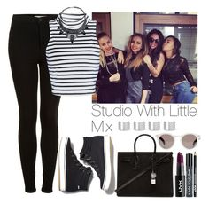 """""""Studio with Little Mix"""" by lovatic92 ❤ liked on Polyvore featuring Topshop, Glamorous, Keds, Yves Saint Laurent, Illesteva and Maison Margiela"""