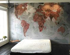 Contemporary grey world map wallpaper mural wallpaper murals check out new work on my behance portfolio vintage world map wall graphics gumiabroncs Image collections