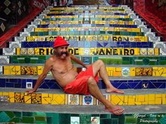 Escadaria Selaron: Jorge Selaron, Chilean born artist.  Manuel Carniero Street, Rio de Janeiro, Brazil.