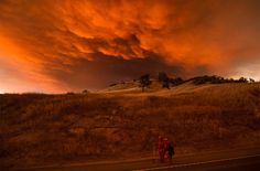 Rocky Fire nahe Clearlake, Kalifornien