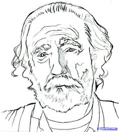 easy to draw the walking dead | how to draw hershel greene, hershel from the walking dead, scott ...