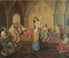 The Harem Dancer Painting by Alexander Sandor Svoboda Reproduction Dance Oriental, Arabian Art, Most Famous Paintings, Turkish Art, Oil Painting Reproductions, Dance Art, Art Plastique, Ancient Art, Islamic Art