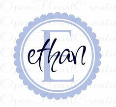Kids Name Vinyl Wall Decal  Initial and Name by openheartcreations