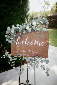 Wedding Welcome Sign - Wedding Signs - . Wedding Welcome Sign - Wedding Signs - Wooden Wedding Signs, Wedding Welcome Signs, Rustic Wedding Decorations, Diy Aisle Decorations, Wood Wedding Centerpieces, Table Decor Wedding, Homemade Wedding Decorations, Marriage Decoration, Wedding Arrangements